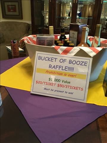 Bucket of booze raffle item