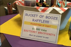 Bucket of booze raffle item