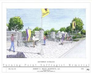 Memorial Entrance Drawing