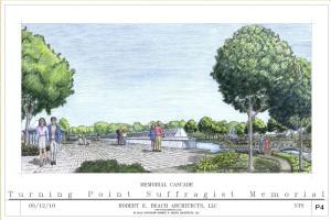 Memorial Cascade Drawing