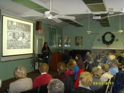 Photo of Turning Point Suffragist Memorial slide presentation