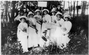Weil on the far left with North Carolina Suffragists in 1920 (Source: Duke University)