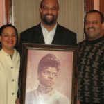 Michelle, Daniel, and Dave Duster, great grandchildren
