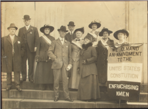 In 1915 Sophie Meredith (front center) led delegation to lobby US Senators from Virginia.