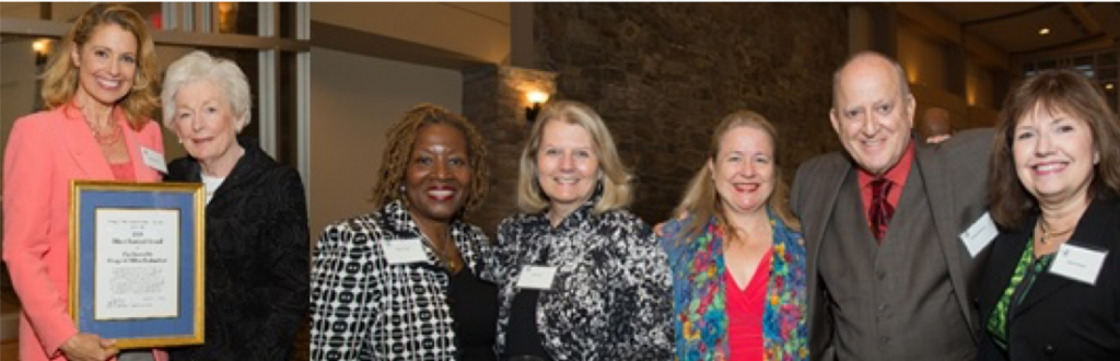 Rebecca Cooper and SSA recipient Margaret Richardso; and guests Dorri Scott, Pat Wirth, and Board members Andrea McGimsey, Ed Bortnick, and Valerie Kaiser at the 2015 SSA